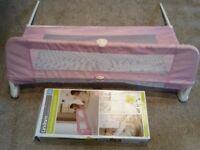 Pink Lindam Bed Guard - Bed Rail - Girl