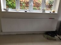 As new radiators with brackets & thermostatic valves one 8ft long is £80 and the 3ft 6 one is £30