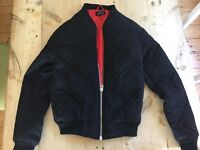 Black quilted puffer jacket size 6