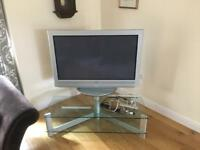 Sony plasma TV with glass stand