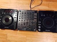 Pioneer cdj mk2/mk1 /djm 600 mixer