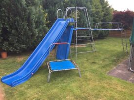 TP climbing frame with slide, swing & bouncer