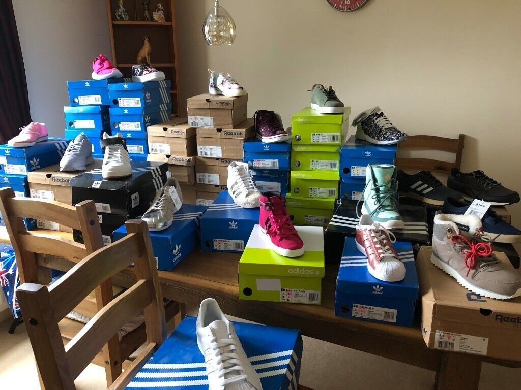 5ffe52c73e Job lot Wholesale Adidas Reebok Puma Trainers Clothing Bags Jackets Hoodies  100% Genuine