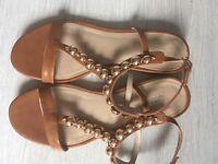 Kurt Geiger Carvela tan sandals - size 5 - worn once - RRP £60