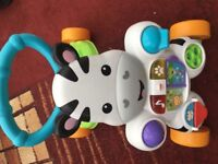 Fisher price zebra learn with me walker
