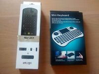 Wireless Mini Keyboard with Trackpad and Wireless Air Mouse with keyboard