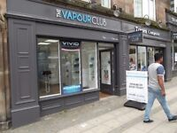 Part Time Sales Staff Required for The Vapour Club - Birmingham Based Vape Shop at Five Ways Island