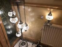Turkish light globe set vintage hand made