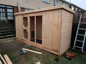 Dog kennel and run 12x4ft