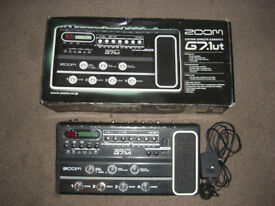 Zoom G7.1UT guitar multi-fx effects pedal. Built in valve pre-amp, Great condition.