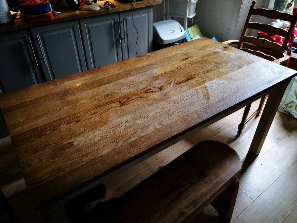 Ikea kejsarkrona solid wood dining table plus bench