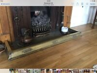 Vintage Brass fireplace fender