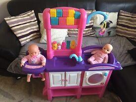 Kids baby changing unit