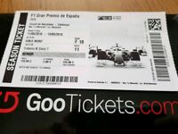 Ticket Spanish Grand prix