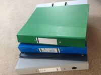 5 Packed of A4 Large 75mm Lever Arch Files Folders Stationery Metal Document