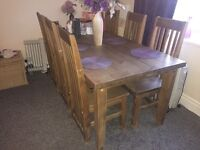 Living room/dining oak furniture excellent condition