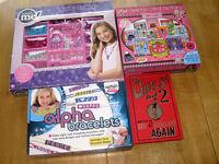 Girls' Craft Bundle: Alpha Bracelets, Sparkle Card Factory, Rock Star Jewellery Set & Girls' Book 2