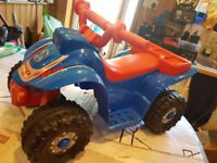 Child's first size electric ride on quad (6 volts)