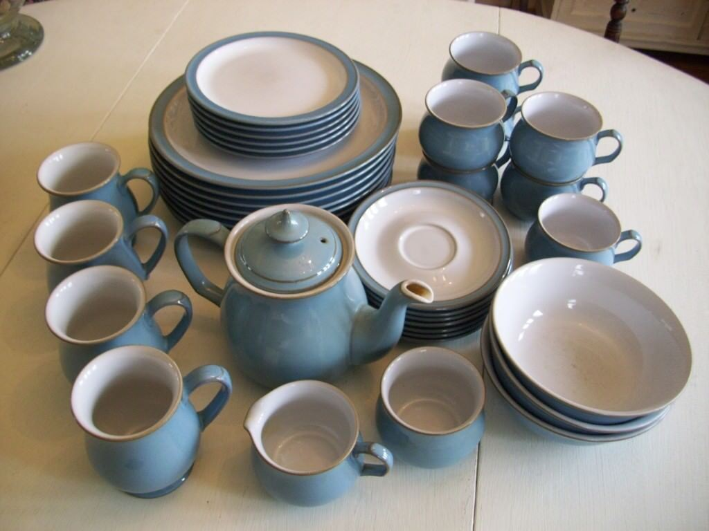 Denby Colonial Blue dinnerware and tea service items | in Crewkerne ...