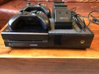 Xbox One 500GB with 2 controllers and charging dock. Faulty HDMI port. Collection Only