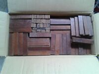Reclaimed hardwood block flooring parquet
