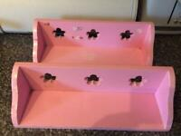 2 x small pink shelves - FREE