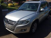 """Vw Tiguan sport 2litre silver alloy wheels """"parrot"""" phone system 6 gears great condition"""