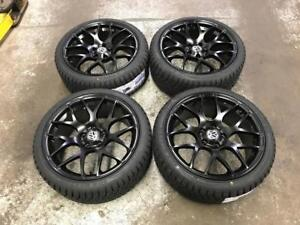 "18"" VMR Matt Black Volkswagen Wheels And 225/40R18 Winter Tires"