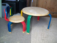 Childs solid wood Table & Chair