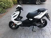 Yamaha aerox 50cc scooter 2016 reg white/black 1,500 miles £1750