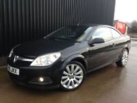 2007 Vauxhall Astra 1.8 i Exclusiv Black Twin Top HUGE Spec, Full Leather, Upgraded Wheels, May PX