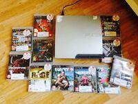 PlayStation 3 slimline bundle 11 games 2 controllers