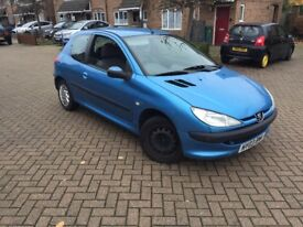 2003 PEUGEOT 206 1.1CC ONLY 75,000 MILES - 1 PREVIOUS OWNER WITH MOT DRIVES GREAT