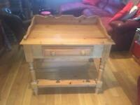 Solid pine baby changing unit