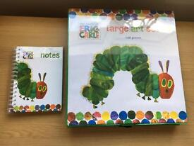 Hungry Catapillar Art Set & Note Book