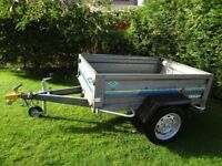 TRELGO 5 X 3ft Galvanised Trailer, Tows easily, Ready to use.