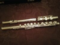 Pearl Silver Head and Body Flute for Sale, serviced in August.