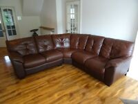 5 Seater Faux Leather Corner Settee/Sofa - BARGAIN