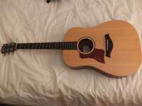 Left Handed Taylor Big Baby BBTE electro accoustic guitar
