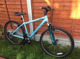 "Apollo girls light blue Bike 26"" wheels, 17"" frame size"