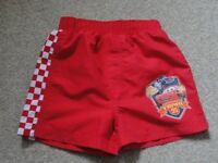 Boys Lightening McQueen/ Cars swim shorts. Age 2-3