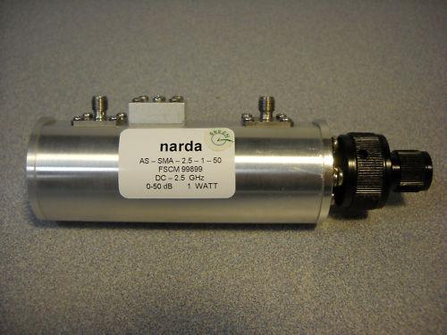 NARDA STEP ATTENUATOR MODEL: AS-SMA-2.5-1-50 No D.O.A!!