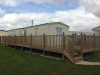 Six berth caravan to rent on Golden Palm site in Chapel St Leonards