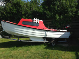 mayland boat with outboard/trailer