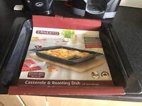 Large Enamel Casserole & Roasting Dish Brand New