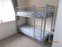 Metal Frame Bunk Beds (VGC)