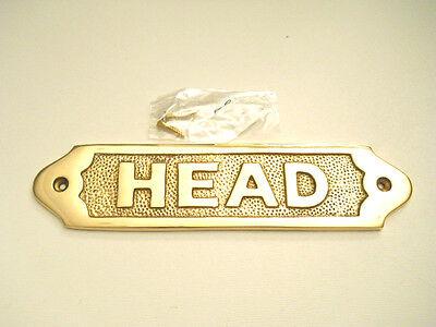Nautical Maritime Solid Brass Head Door Sign Decorative Wall Plaque New