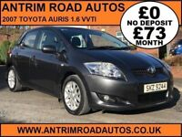 2007 TOYOTA AURIS TR 1.6 VVT-I ** FULL TOYOTA SERVICE HISTORY ** FINANCE AVAILABLE WITH NO DEPOSIT *