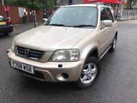 2001 - honda cr-v , 2.0 litre petrol - estate - 10 months mot - warranted miles - electric windows