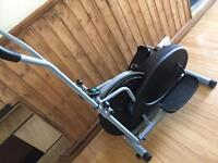 Exercise training bike cross trainer
